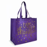 I Am Thankful, Eco Tote, Purple