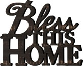Bless This Home, Carved Wood Art, 19 x 15.25