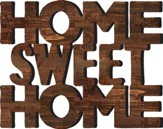 Home Sweet Home, Carved Wood Art, 19.25 x 15.5