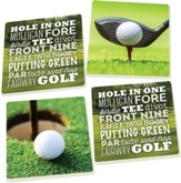 Golf Coasters, Set of 4