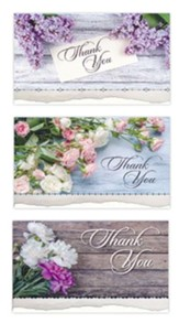 Country Blossoms/Thank You, With Gratitude Cards, Box of 12
