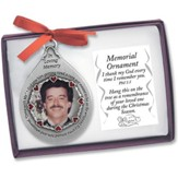 Memorial Photo Ornament, Male