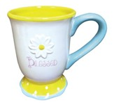 Blessed, Daisy Mug, White