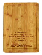 Personalized, Bamboo Cutting Board, Large, Taste and  See