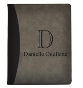 Personalized, Leather Padfolio with Monogram, Gray