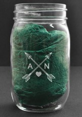 Personalized, Mason Jar, 16 Ounces, with Arrows