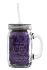 Personalized, Mason Jar with Handle and Straw, 15 oz Graduation