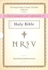 HarperCollins Catholic Gift Bible, White: First Communion and Confirmation
