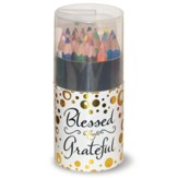Colored Pencils, Compact Tube, Blessed & Grateful, 24 Pieces