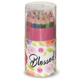Colored Pencils, Compact Tube, Blessed, 24 Pieces