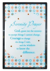Serenity Prayer Mirror Plaque, with Rhinestones