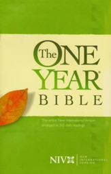 NIV One-Year Bible, softcover - Slightly Imperfect