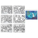 Jonah & the Big Fish Coloring Pages, 6 Pages