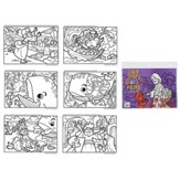 Five Loaves Coloring Pages, 6 Pages