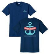 Anchor, Simply Blessed, Shirt, Navy, X-Large