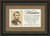 Abraham Lincoln Framed Quote, Wisdom