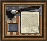 Patriotic Quotes, Psalm 33:42, Framed Art