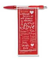 Love Banner Pen, Red
