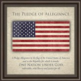 Pledge of Allegiance, American Flag, Framed Art
