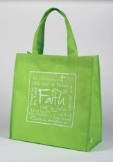Faith Tote Bag, Green