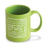 Faith Mug, Green