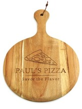 Personalized, Wooden Pizza Paddle, Pizza Slice
