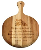 Personalized, Wooden Pizza Paddle, Fruit of the Spirit