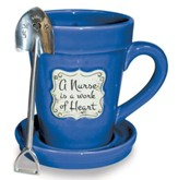 A Nurse is a Work of Heart, Flower Pot Mug
