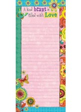 A Kind Heart Is Filled With Love List Pad