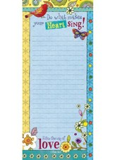 Do What Makes Your Heart Sing List Pad