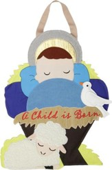 A Child is Born, Manger, Wall Decor