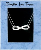 Daughter Love Forever, Infinity Necklace