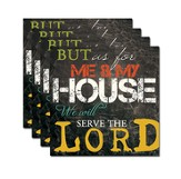 As for Me & My House Coaster Set of 4