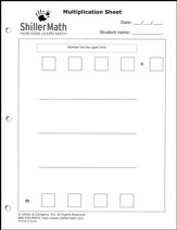 ShillerMath 24-Page Multiplication Worksheets Pad