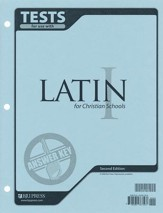 BJU Latin 1 Tests Answer Key, Second Edition