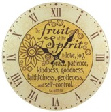 Fruit Of the Spirit Wall Clock, Glass