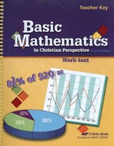 Abeka Basic Mathematics in Christian Perspective Teacher Key