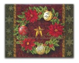Season's Greetings, Wreath, Christmas Cards, Box of 18