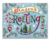 Season's Greetings, Word Whimsy, Christmas Cards, Box of 18