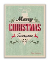 Merry Christmas Everyone, Retro Christmas Cards, Box of 18