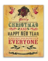 Merry Christmas and Happy New Year Christmas Cards, Box of 18