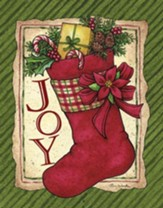 Joy, Stocking, Christmas Cards, Box of 18