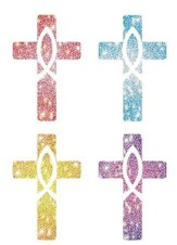120 Crosses Christian Dazzle Stickers