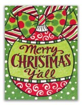 Merry Christmas Y'all Christmas Cards, Box of 18