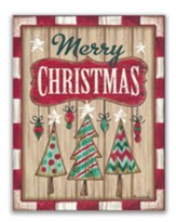 Merry Christmas, Rustic, Christmas Cards, Box of 18