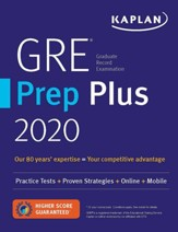 GRE Prep Plus 2020: Practice Tests,  Proven Strategies, Online, Video, Mobile
