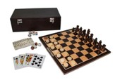 7-in-1 Game Set, Dark Wood