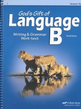 Abeka God's Gift of Language B Writing & Grammar Answer Key,  Third Edition