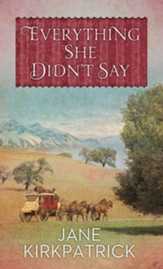 Everything She Didn't Say, Large Print Edition
