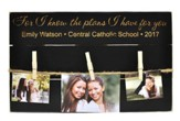 Personalized, Photo Pallets with Clothespins, Graduation, Black